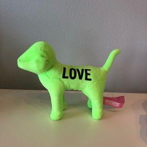 Victoria's Secret PINK stuff dog, neon green.
